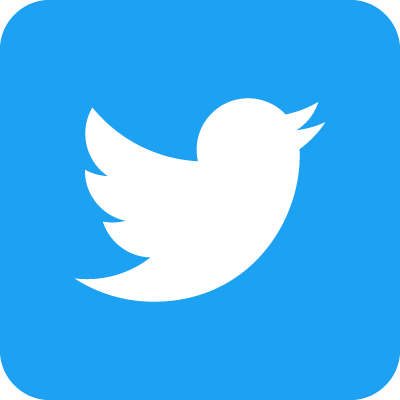 Twitter logo - white bird on blue background, square with rounded corners