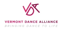 "Vermont Dance Alliance logo, ""Bringing dance to life"""