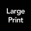 large print access symbol