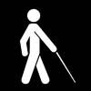 white cane access symbol