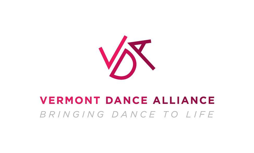 VDA logo in pink and maroon